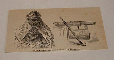1879 magazine engraving ~ JAPANESE CARPENTER, Japan