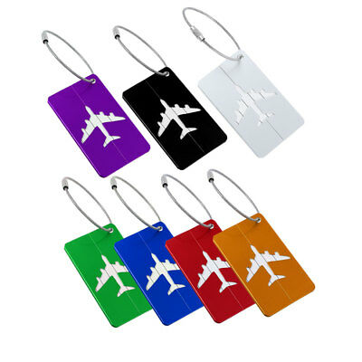 Aluminium Metal Luggage Tags Suitcase Baggage Name Address Information Label
