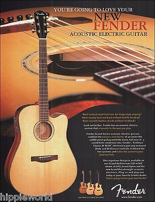 Fender Grand Auditorium Series GD-47SCE acoustic/electric guitar 8 x 11 ad print