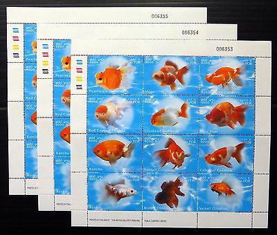LAOS 2002 Gold Fish Sheetlet of 12 U/M PLEASE SEE BELOW NB2040