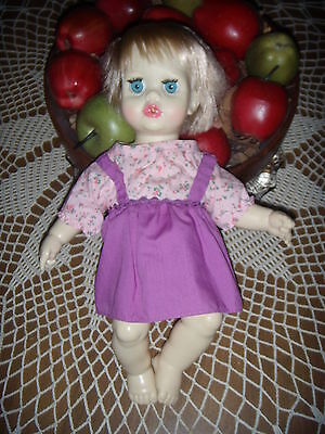 Ideal's  1971 Tiny Tears Doll In Pretty Outfit, Lot#3