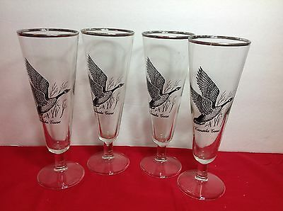 Lot of 4 Beer Glasses SPORTSMAN by Federal Glass? ~ Canada Goose