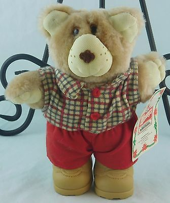 """Furskins Boone Furskin Wendy's Kids Meal Plush Toy 7"""" Tall w/ Tag 1986 Vintage"""
