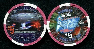 $5 Las Vegas Hilton 2006 Official StarTrek Casino Chips - Uncirculated