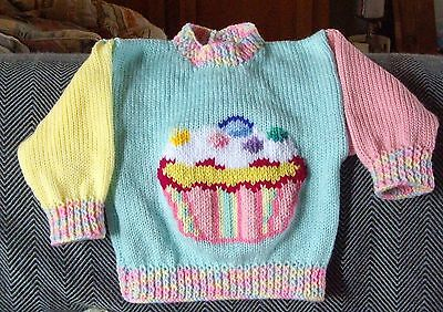 Cup Cake... Really Cute ..size 1.. New Handknitted Jumper