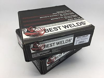 "X2 12lb Rolls BEST WELDS PREMIUM ER70S-6 .035"" Steel MIG Welding Wire Made Italy"