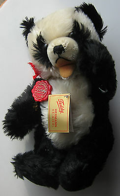 Hermann Mohair Jointed Panda Bear Never Played With New with Tags 1986