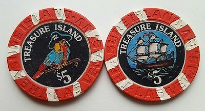 $5 Las Vegas Treasure Island Casino Chip