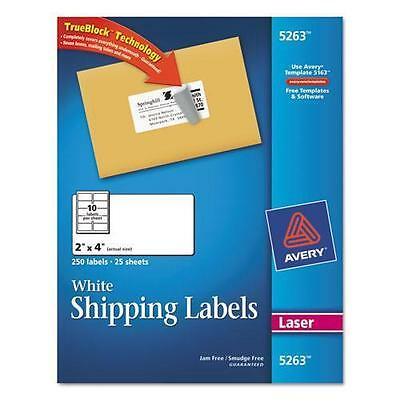 No Tax Avery Labels With Trueblock Technology 2 X 4 1000 Count