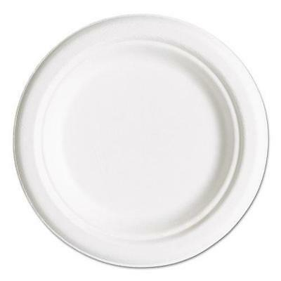 """Eco-Products EPP016PK Compostable Sugarcane Dinnerware, 6"""" Plate, Natural White,"""