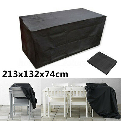 Waterproof Garden Patio Black Table Cover Outdoor Furniture Shelter Protection