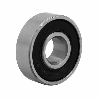 22mmx8mmx7mm Stainless Steel Double Sealed Deep Groove Ball Bearing Silver Tone