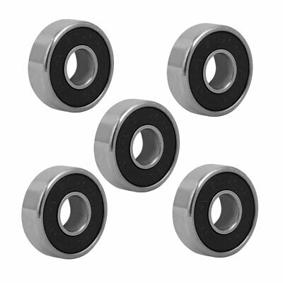19mm OD 7mm Inner Dia 6mm Thickness Metal Sealed Deep Groove Ball Bearing 5pcs