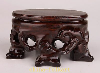 Wood Carving Exquisite High-End Snuff Bottle Display Base Stand Collectable