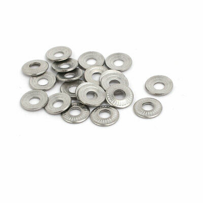 M3 Inner Diameter 304 Stainless Steel Serrated Conical Spring Washer 20pcs