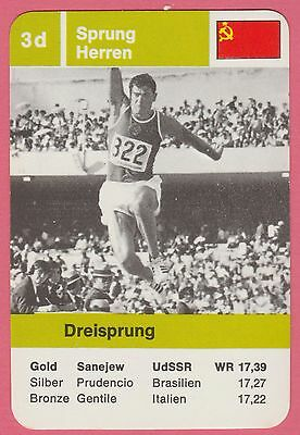 German Trade Card 1968 Olympics Triple Jump Gold Medal Winner Viktor Saneyev