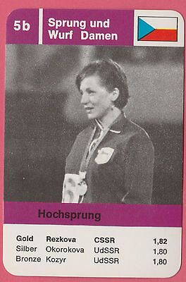 German Trade Card 1968 Olympics High Jump Gold Medal Winner Miloslava Rezkova
