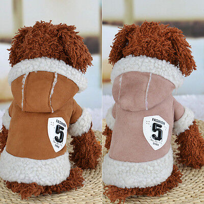 Pet Dog Winter Coat Jacket Clothes Puppy Cats Warm Soft Sweater Clothing Apparel