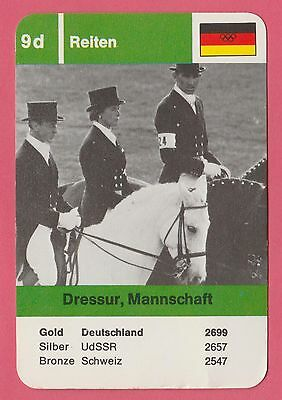 German Trade Card 1968 Olympics Team Dressage Gold Medal Winner Germany