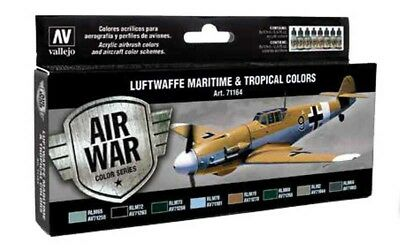 (15,18€/100ml) Vallejo Model Air Luftwaffe Maritime and Tropical Colors Set Airb