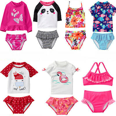 Gymboree Baby Toddler Girl 2 pc Swimsuit Rashkini Tankini 6 12 18 24 2T 3T 4T 5T