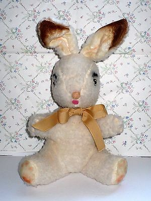 "Vintage 1950's Untagged Stuffed 12"" Rabbit Bunny Very Cute"