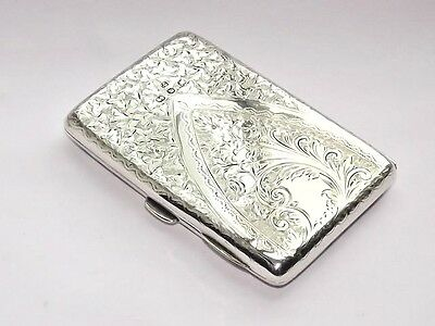 Fine Antique Victorian Solid Silver Sterling Aide Memoire Card Case B/ham 1896