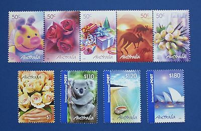 Australia (2349-2357) 2005 Greetings MNH strip & singles set