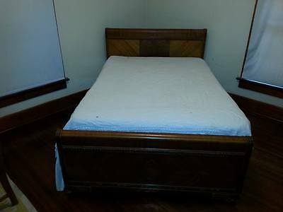 1930s Waterfall Bedroom Set, bed, chest, vanity and chair - LOWER PRICE