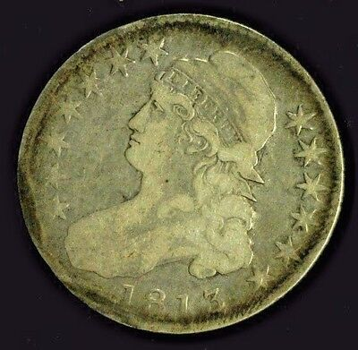 1813 Capped Bust Silver Half        (3884)