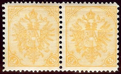 OLD AUSTRIA BOSNIA 1900. new currency MIXED PERFORATION 12,5 x 10,5 PAIR UNIQUE