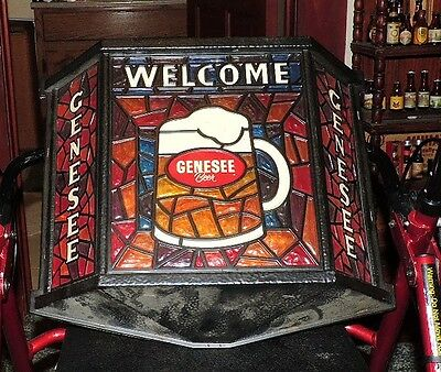 1970s genesee light up beer sign wild colors rochester ny