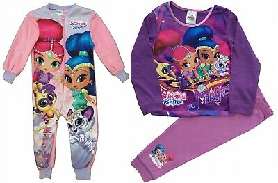 Girls Nickoldeon Shimmer and Shine Long Pyjamas Pjs Sleepwear Age 1.5 to 5 Yrs