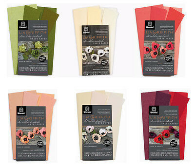 Lia Griffith Extra Fine Crepe Double Sided Paper 4 colours per pack 130% stretch