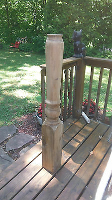 Solid Wood Pine Kiln Dried Turned Porch Verandah Post Architectural Salvage