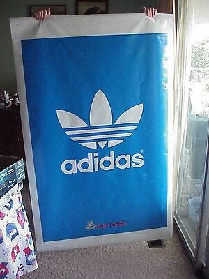 Adidas Foot Locker Large Store Blue Vinyl Large Window Banner, 64 Inches Tall