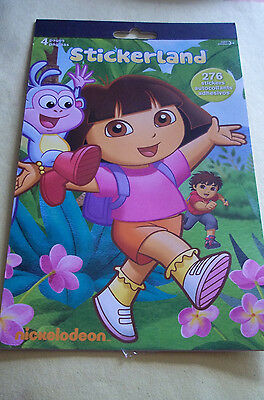 Dora the Explorer from Nickelodeon Package Stickers - 4 Sheets - Ages 3+ - NEW