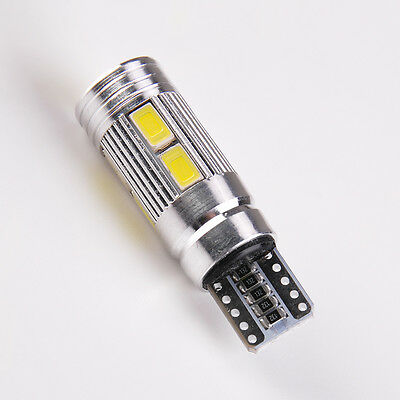 Error Free Canbus 194 W5W 5630 LED 10 SMD Backup Reverse Light Bulb Xenon