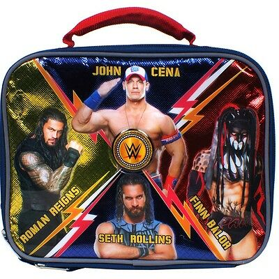 WWE JOHN CENA ROMAN REIGNS & ROLLINS Lead-Safe Insulated Lunch Tote Box Kit  $20