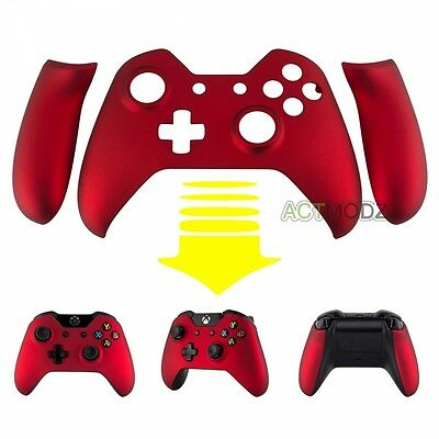 Top Housing Shell Faceplate Repair Parts for Xbox One Controller Soft Touch Red