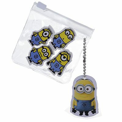 Depicable Me Minions Eraser 4pc Rubbers Set Kids Stationery Party Bag Fillers