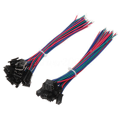 10 sets JST 15cm SM 3Pin 22AWG Wire Male and Female Connectors Wire Pitch 2.54mm