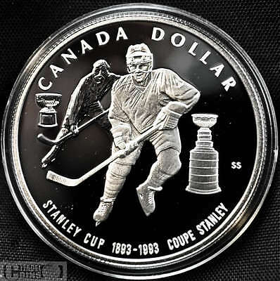 1993 Canada $1 Proof Silver Dollar Stanley Cup Comm.