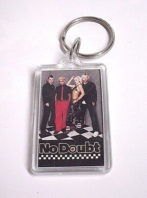 New NO DOUBT Gwen Stefani ROCK Band KEYRING Band LOGO Photograph POP Music