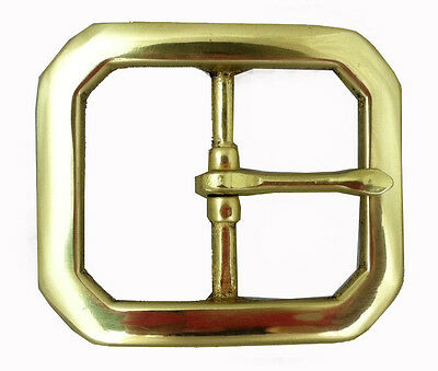 Brass Clipped Corner Buckle  1 3/4in (1508-03)
