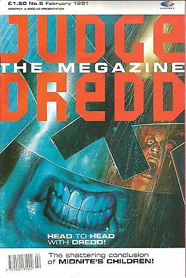 Judge Dredd The Megazine Vol.1 # 5 / Feb 1991 / Fleetway / Uk Exc / V/g / 2000Ad