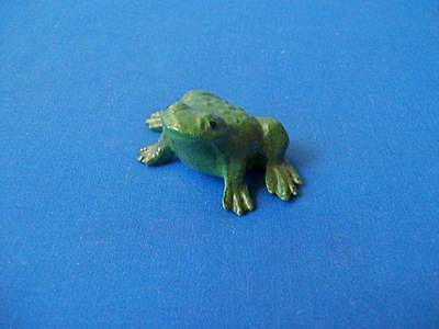 Vintage Cast Iron Frog Toad Paperweight Small