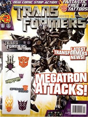 TRANSFORMERS VOL.1 # 2 / TITAN COMICS / SEP 2007 / UK EXC / N/M w/FREE TATTOOS!
