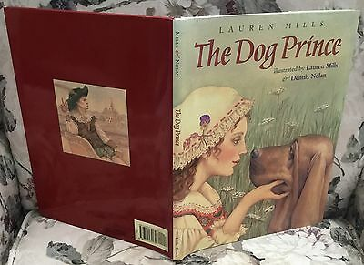 Bloodhound fairy tale story book The Dog Prince 2001 first edition Lauren Mills