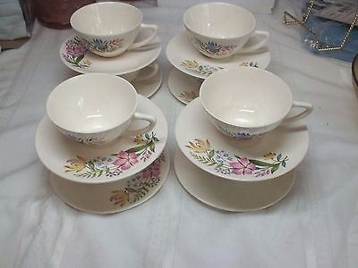 8 SETS Edwin Knowles China #X4020  SCANDIA  (8) CUPS & (8) SAUCERS